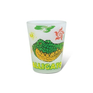 Puzzled Frosted Alligator Shot Glass