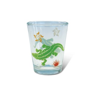 Puzzled Clear Alligator Shot Glass