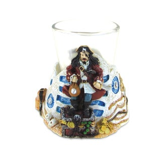 Puzzled Stone Pirate Shot Glass