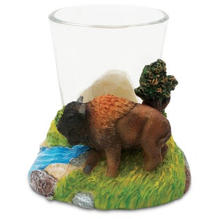 Puzzled Stone Buffalo Shot Glass