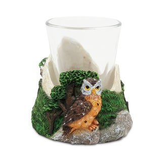 Puzzled Stone Owl Shot Glass