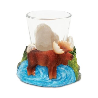 Puzzled Stone Moose Shot Glass