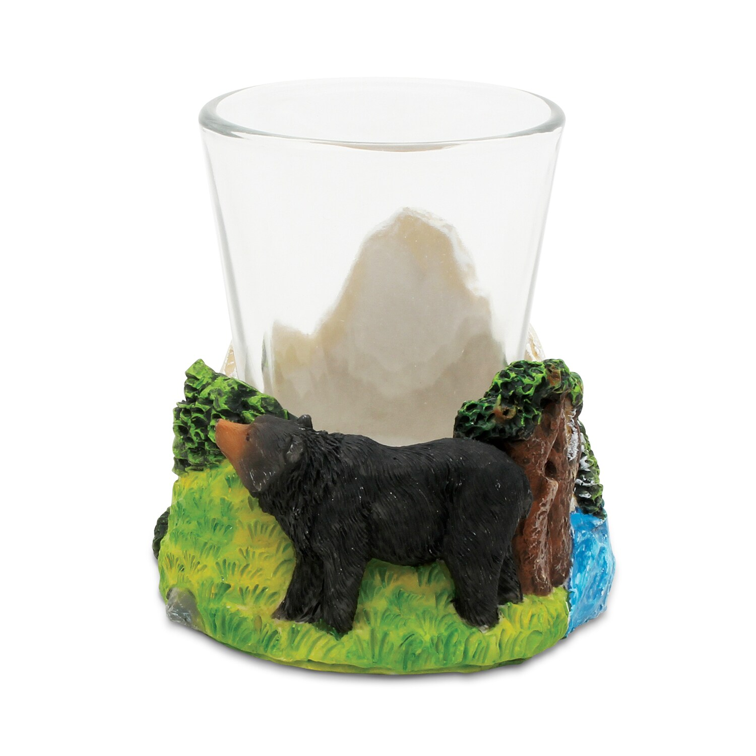 "Puzzled Stone Black Bear Shot Glass (Product size: 2.75""L..."