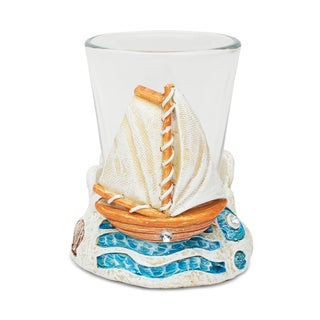 Puzzled Stone Boat Shot Glass