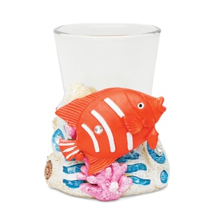Puzzled Stone Fish Shot Glass