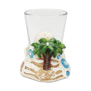 Puzzled Stone Palm Tree Shot Glass