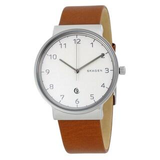 Skagen Men's SKW6292 'Ancher' Brown Leather Watch