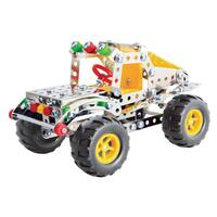 Steel Works Multicolored Plastic/Metal Dune Buggy Construction Set