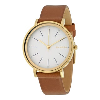 Skagen Women's SKW2512 'Hald' Brown Leather Watch