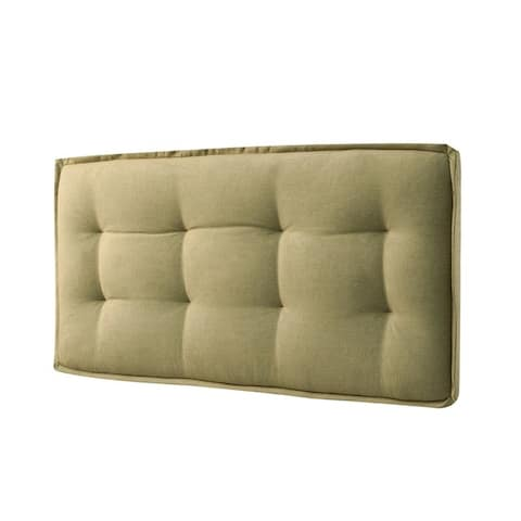 LYKE Home Full-size Wall Mount Faded Upholstered Panel Headboard