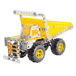 Schylling Steel Works Multicolored Plastic Dump Truck Set