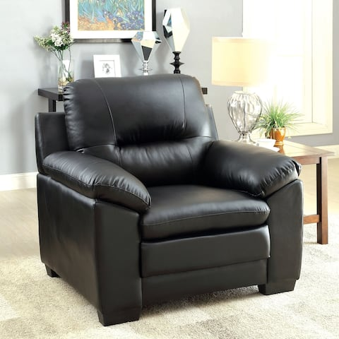 Furniture of America Lito Contemporary Faux Leather Padded Chair