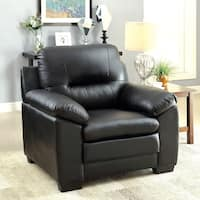 Furniture of America Morales Contemporary Plush Padded Leatherette Chair