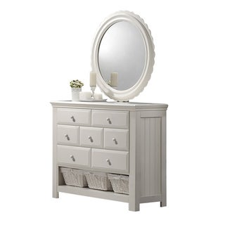 Greyson Living Jenna White Dresser with Optional Mirror