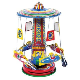 Schylling Collector Series Tin Rocket Ride Carousel Collectible