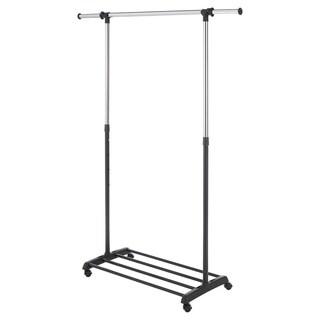 Whitmor Deluxe Adjustable Garment Rack (Chrome/Black)
