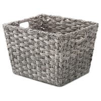 Rattique 11x9x7 Storage Totes (Gray Wash) 4pk