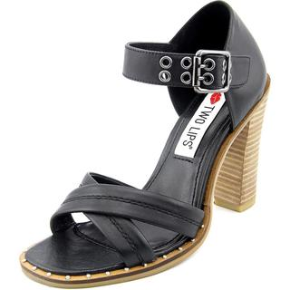 Two Lips Women's Calida Black Leather Sandals