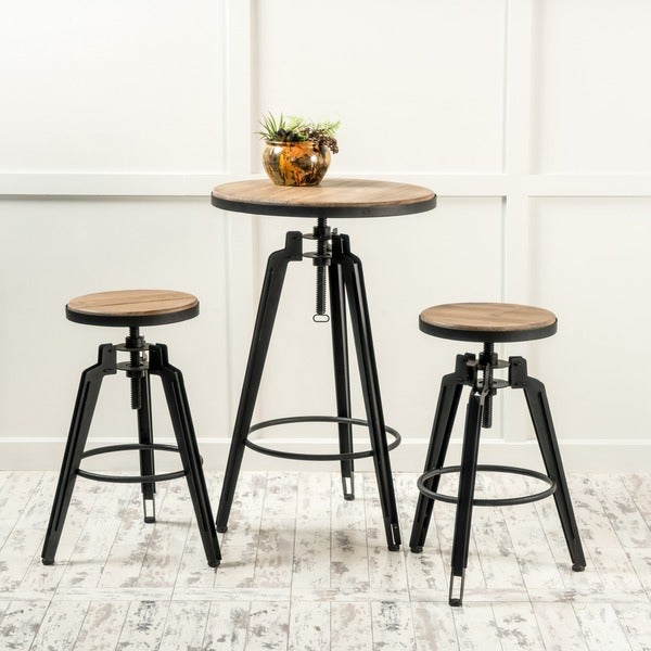 Bars Sets For Sale: Shop Isla Antique Finish Firwood Bar Table Set By