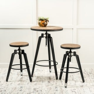Isla Antique Finish Firwood Bar Table Set by Christopher Knight Home