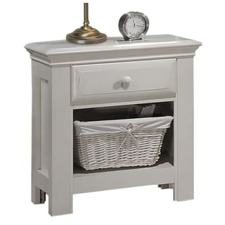 Greyson Living Jenna White Wood and Veneer Nightstand