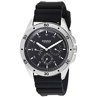Fossil Men's CH3033 'Sport 54' Multi-Function Black Silicone Watch