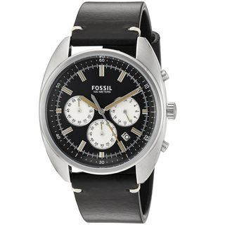 Fossil Men's CH3043 'Drifter' Chronograph Black Leather Watch