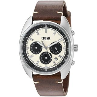 Fossil Men's CH3044 'Drifter' Chronograph Brown Leather Watch