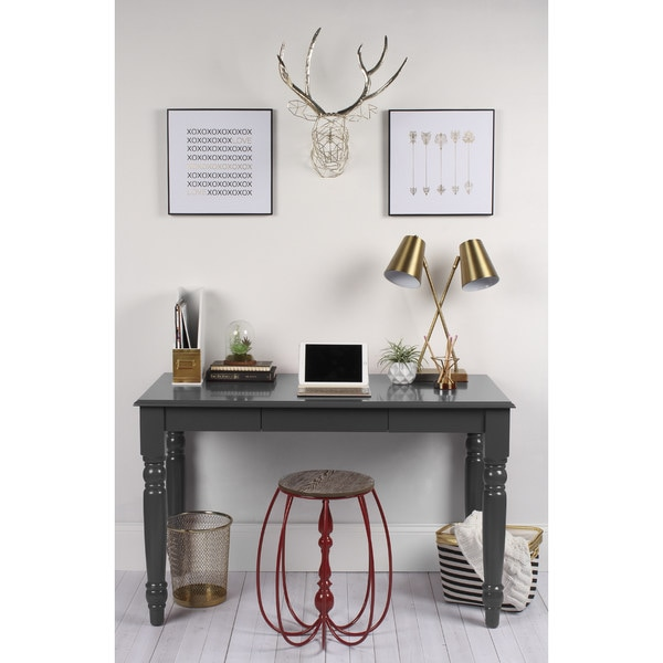 Turin Wood Writing Table And Computer Desk With Drawer And
