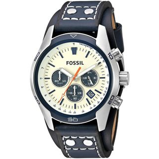Fossil Men's CH3051 'Coachman' Chronograph Blue Leather Watch
