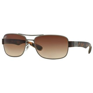 Ray-Ban RB3522-029/13(64) Square Brown Gradient Sunglasses