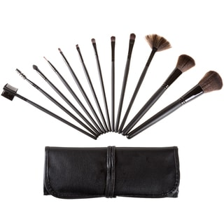 Everyday Home 12-piece Makeup Brush Set with Black Pouch