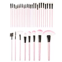 Everyday Home 12 Piece Makeup Brush Set with Black Pouch