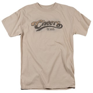Cheers/Watercolor Logo Short Sleeve Adult T-Shirt 18/1 in Sand