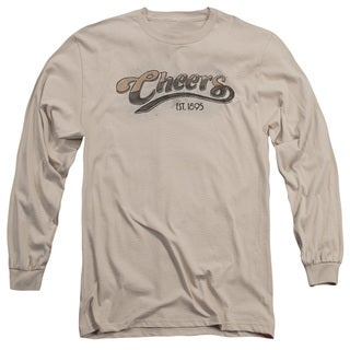Cheers/Watercolor Logo Long Sleeve Adult T-Shirt 18/1 in Sand