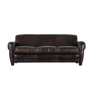 Havana Brown Full Top Grain Leather Sofa