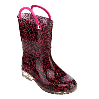 Jelly Beans Girl's Multicolored PVC Mid-calf Rain Boots