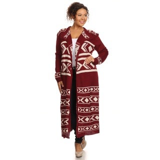 Hadari Women's Long Sleeve Open Front Cardigan