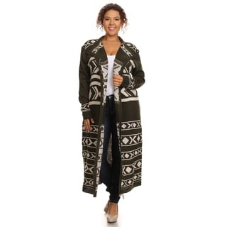 Hadari Women's Long Sleeve Open Front Cardigan