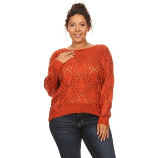 Hadari Women's Long Sleeve Round Neck Sweater