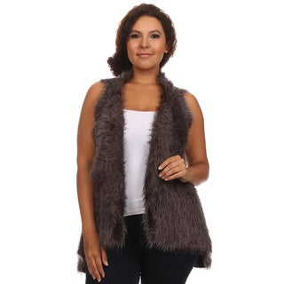 Hadari Women's Sleeveless Open Front Cardigan