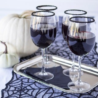 Spooky 19-ounce Personalized White Wine Glasses (Pack of 4)