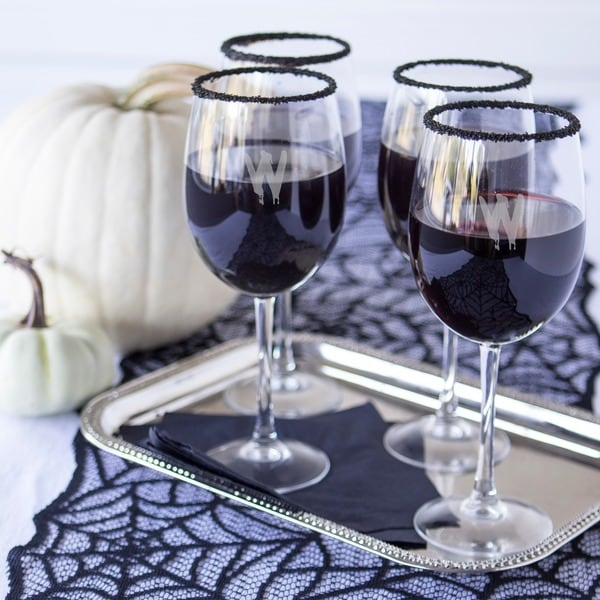 Spooky 19-ounce Personalized White Wine Glasses (Pack of 4) - 19 oz