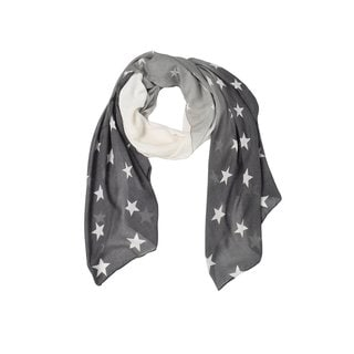 Peach Couture Women's Vibrant Ombre Star-printed Cotton Scarf