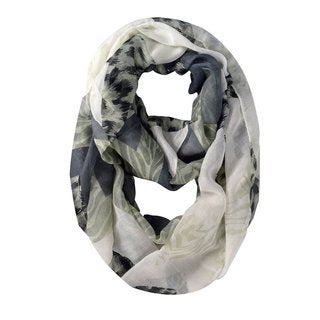 Peach Couture Polyester Mixed Animal Print Loop Scarf Wrap