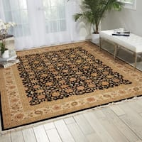Nourison Royalty Black Area Rug - 7'9 x 9'9