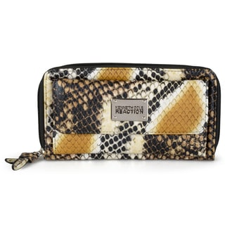 Kenneth Cole Reaction Women's Snake Print Zippered Clutch Wallet