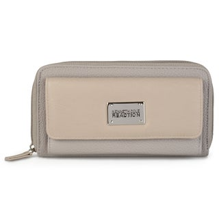Kenneth Cole Reaction Women's Pebble Print Zippered Clutch Wallet (Option: Grey)