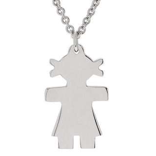 Journee Collection Sterling Silver Girl Pendant Necklace