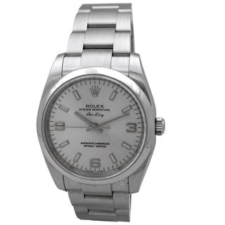 Pre-owned Rolex Women's 34mm Stainless Steel Oyster Perpetual Air-King Watch